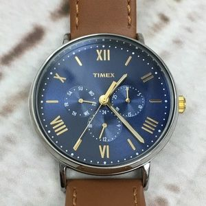 Men's Genuine Leather Timex Watch